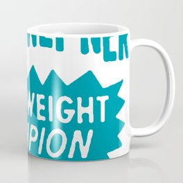 Boxing and Boxers: Chuck Wepney 70s Typography Coffee Mug