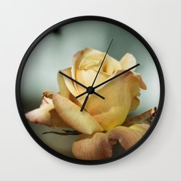 Yellow and Red Mid City Rose  Wall Clock