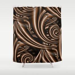 fractal brown Shower Curtain