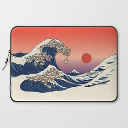 The Great Wave of Shiba Inu Laptop Sleeve