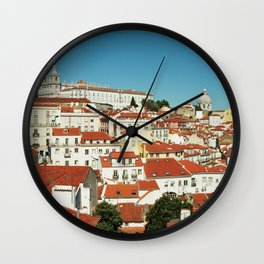 Lisbon view, Portugal Analog 6x6 Kodal Ektar 100 (RR 166) Wall Clock