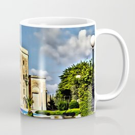 digital painting oil on canvas - Mosta Dome Cathedral St. Mary church The Parish Church of Assumptio Coffee Mug