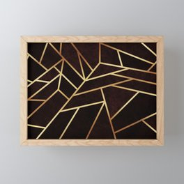 Dark Ruby Framed Mini Art Print