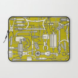 fiendish incisions chartreuse Laptop Sleeve