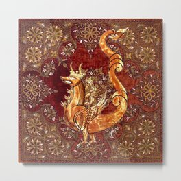 Crowned Dragon - Garden of Beasts Collection Metal Print
