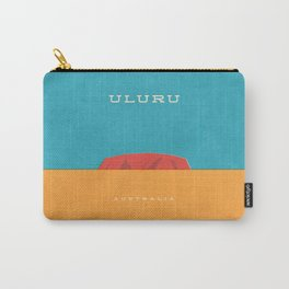 Uluru Ayers Rock Retro Tourism Carry-All Pouch