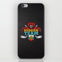 hockey iPhone & iPod Skins featuring HOCKEY by frail