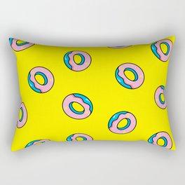 Donuts Yellow Rectangular Pillow
