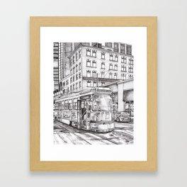 Spadina King (black and white) Framed Art Print