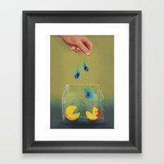 Pac Man Pets Framed Art Print