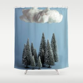 A cloud over the forest Shower Curtain
