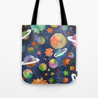 planet Tote Bags featuring Planet by Michaella Fonseca