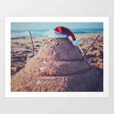 Christmas in Hawaii Art Print