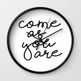 Come As You Are Wall Clock