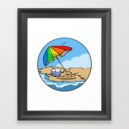 Summer Umbrella Framed Art Print