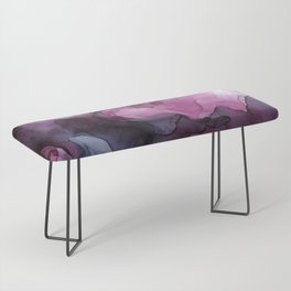 Abstract Ink Painting Ethereal Flowing Watercolor Nebula Bench