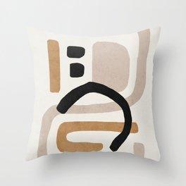 Abstract shapes art, Mid century modern art Throw Pillow