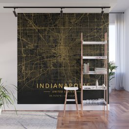 Indianapolis, United States - Gold Wall Mural