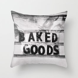 Baked Goods Throw Pillow