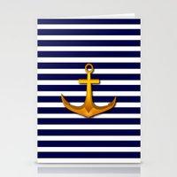 marine Stationery Cards featuring Marine by Elena Indolfi