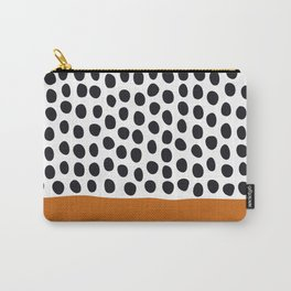 Classy Handpainted Polka Dots with Autumn Maple Carry-All Pouch