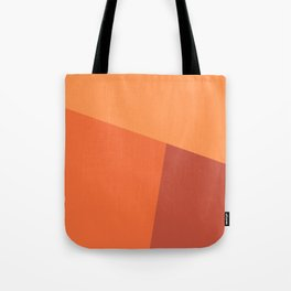 dégradé trapèze orange clair Tote Bag