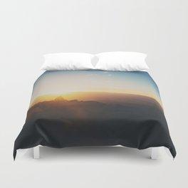 sunrise on Mt Woodson ... Duvet Cover