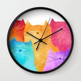 Rainbow cats Wall Clock
