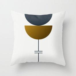 Soir 06 // ABSTRACT GEOMETRY MINIMALIST ILLUSTRATION Throw Pillow