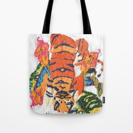 TIGER embroidery Tote Bag