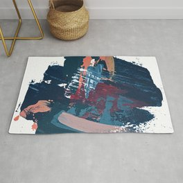 Pacific Northwest: a pretty minimal abstract piece by Alyssa Hamilton Art Rug