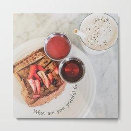 Cafe Toast Metal Print