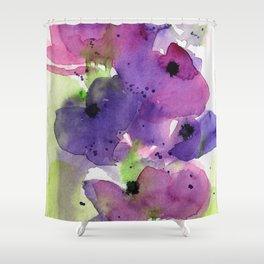 Purple Flowers in the Garden Shower Curtain