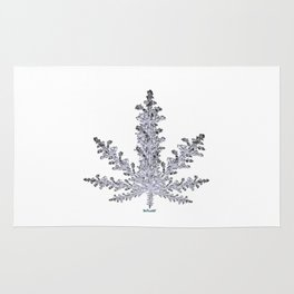 Cannabis Snow Flake Rug