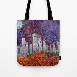 Moonlit Henge - Stonehenge, England Tote Bag