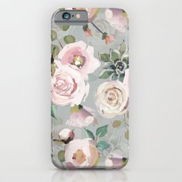 Hand Drawn Pastel Guache Claude Monet Botanical Flower Garden iPhone Case