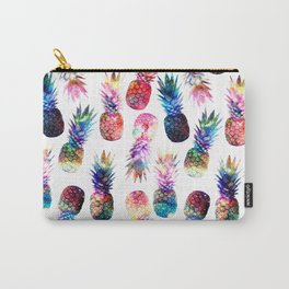 watercolor and nebula pineapples illustration pattern Carry-All Pouch
