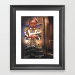 Gentle Dignity / Portrait / Haiti Framed Art Print