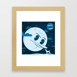 Bark at the moon Framed Art Print