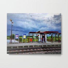 Train station Metal Print