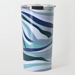 Blue Dream Abstract Travel Mug