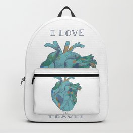 love to travel-world map Backpack