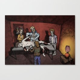 The Flaying Of ST Bartholomew By 80's tracksuit Canvas Print
