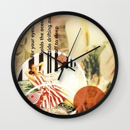MUSICAL SEASONS. CLIPPINGS UNTITLED (series) Wall Clock