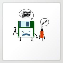 I Am Your Fathers Nooooo Floppy Disk USB Art Print