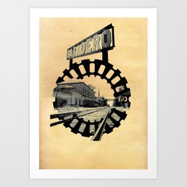 Baradero Train Station Art Print