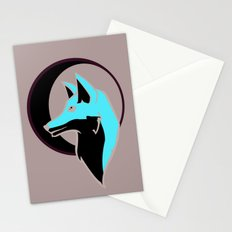 Night Fox with Moon Stationery Cards