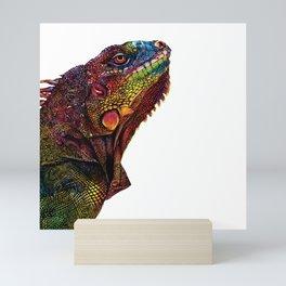 Iguana Watercolor Painting By Windy Shih Mini Art Print