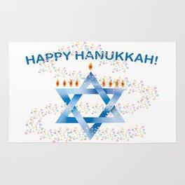 Happy Hanukkah Rug