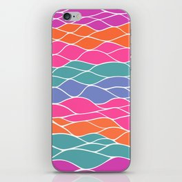 Multicolored Waves iPhone Skin